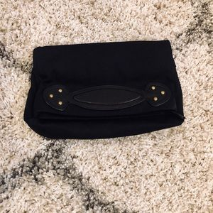 Gap Canvas Clutch with Leather Handle